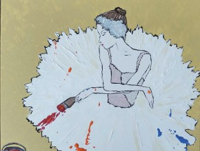 Creative Ballerina, acrylic, by Anthony Pego