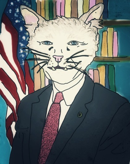 "Jim ""Oatmeal"" Incough (OK / R), by Pego  Chairman of US Senate Committee on Litterboxes and Floor Gaps ""Litter box change is a hoax."""