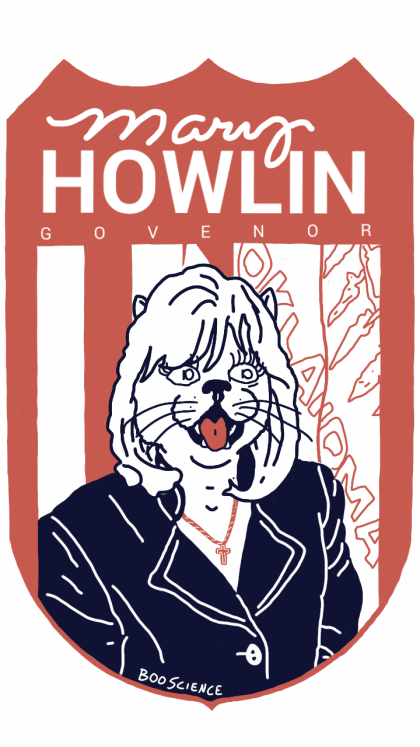 Mary Howlin Tshirt Design #1 (in print now)