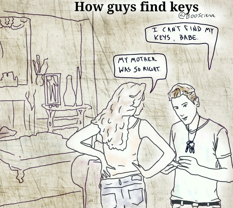 How Guys Find Their Keys