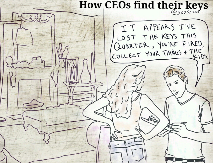 How CEOs Find Their Keys