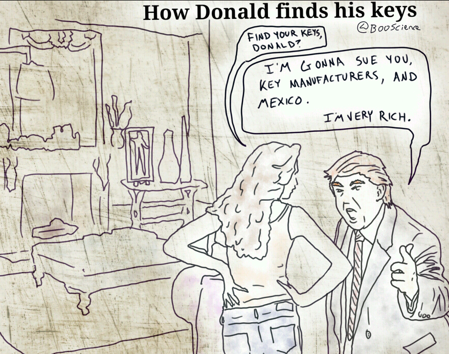 How Donald Finds His Keys